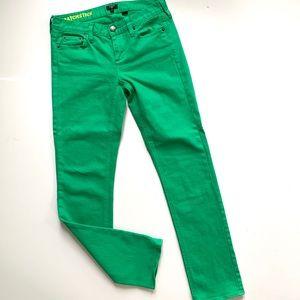 J. Crew Matchstick Green Denim Jeans 27